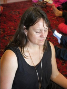 Leonie in meditation in Spirit of Light Training