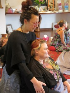 Tania  and Rachel healing in Spirit of Light Training