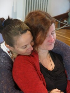 Nikki and Sally healing in Spirit of LIght Training